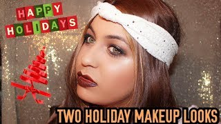 TWO HOLIDAY MAKE UP LOOKS | MAKEUP BY ASHLEY