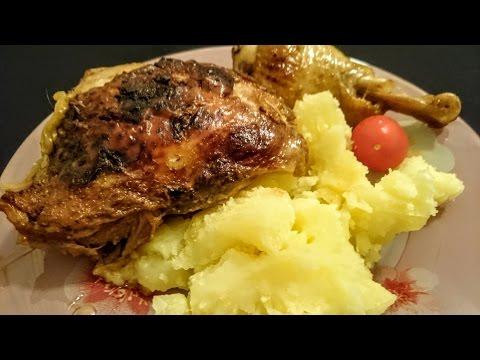 Куриные ножки запеченная в духовке Рецепт с картошкой как приготовить обед быстро вкусно видео
