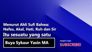 Menurut Ahli Sufi Bahwa Nafsu, Akal, Hati, Ruh dan Sir Itu sesuatu yang satu