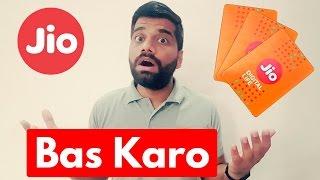 Reliance JIO 4G SIM - Bas Karo Yaaaarrrr