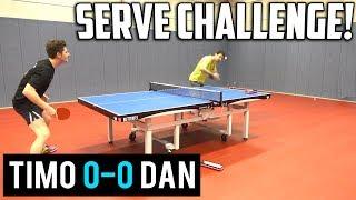 Timo Boll's Serves vs TableTennisDaily's Dan!