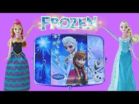 NEW 2015 Disney Frozen Light-Up Vanity Makeup   Elsa Anna Olaf Nails