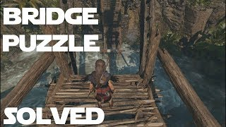 SHADOW OF THE TOMB RAIDER HOW TO SOLVE - ROPE BRIDGE PUZZLE