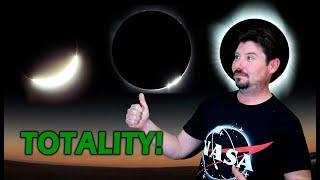 Solar Eclipse 2017 - Scottsbluff, Nebraska Totality. Realtime!
