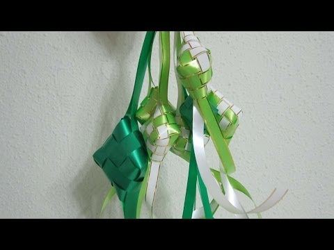 TUTORIAL - How to weave a ketupat casing