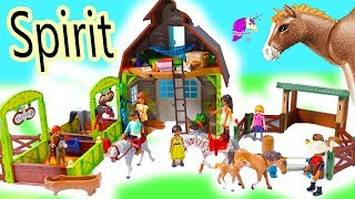 NEW Horse Barn +  Horses Sets ! Spirit Riding Free Playmobil Sets - Video