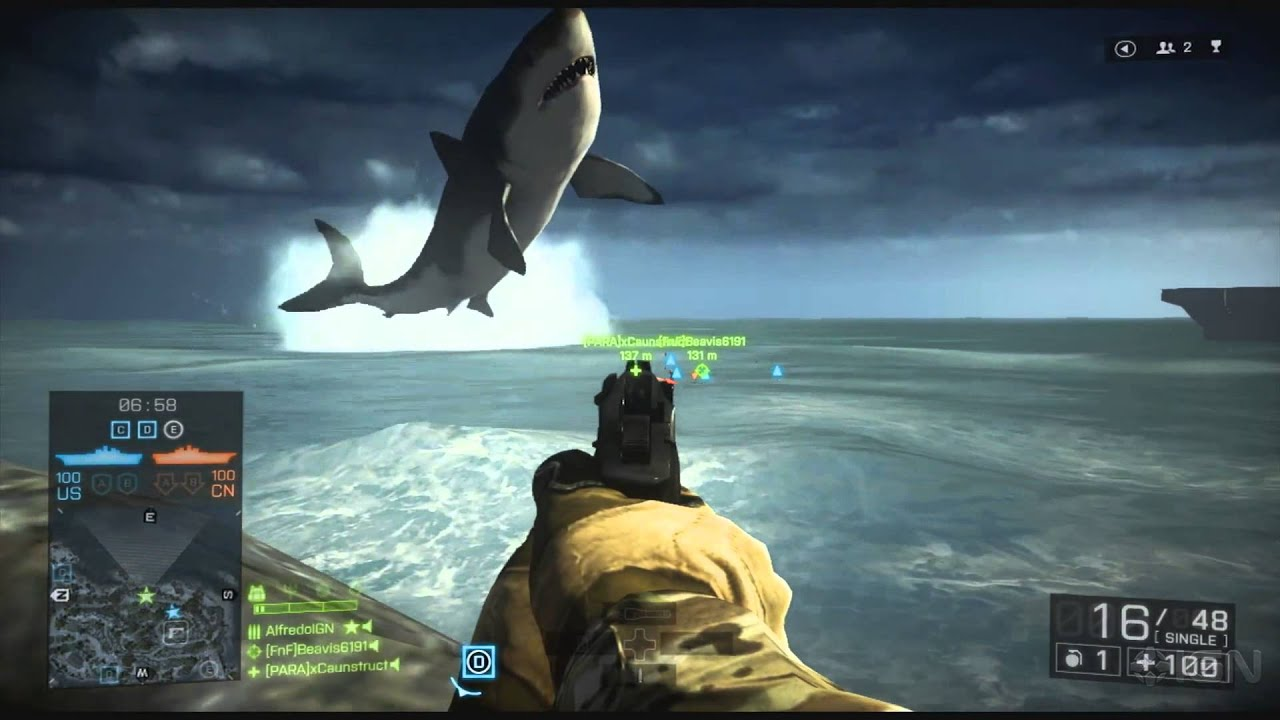 How To Find the Giant Shark in Battlefield 4 - YouTube