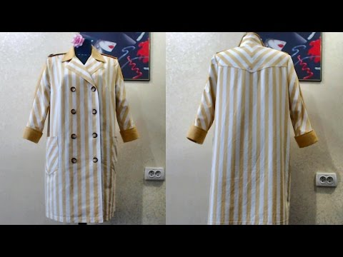 Как сшить из платья халат 74