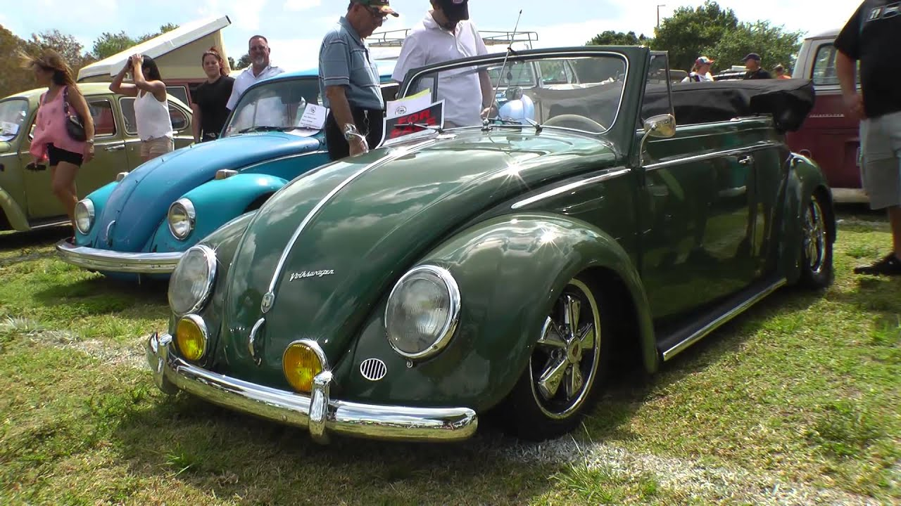 classic vw bugs south miami  show  shine air cooled beetle car show youtube
