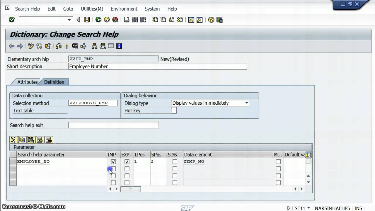 Search Help in Tcode SE11 | SAP Blogs