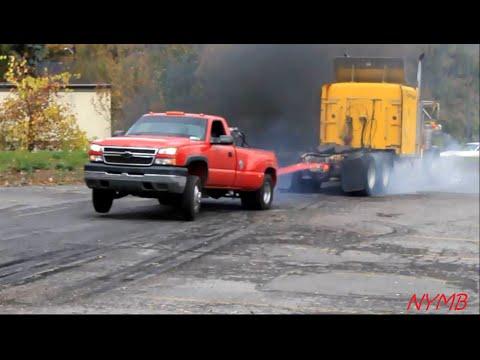 Semi vs Dually Tug O War Daisy Dukes Truck Show