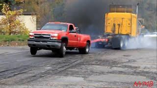 Semi vs Dually Tug O War Daisy Dukes Truck Show