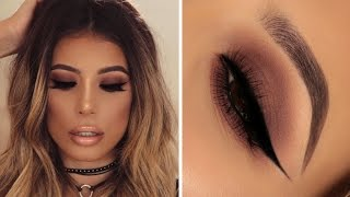 GO TO NIGHT OUT EASY BROWN SMOKEY EYE MAKEUP LOOK