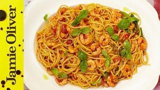 Sicilian Prawn Linguine | Jamie's 15 Minute Meals (2012)