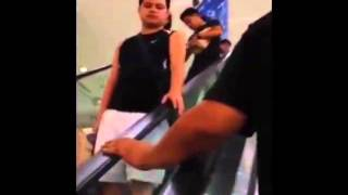 Weird Moment on Escalator