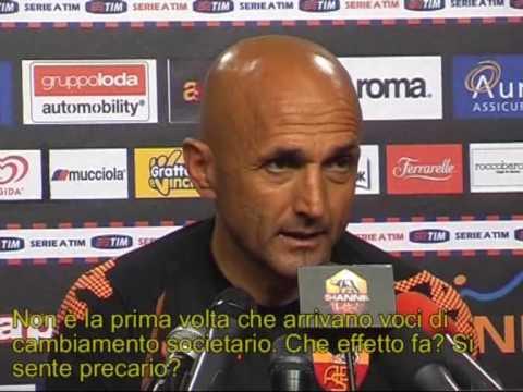 Fiorentina-Roma  1^a Parte Conferenza Stampa Luciano Spalletti 24/04/2009
