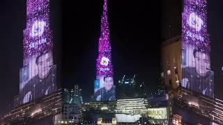 K-Pop EXO show on Burj Khalifa