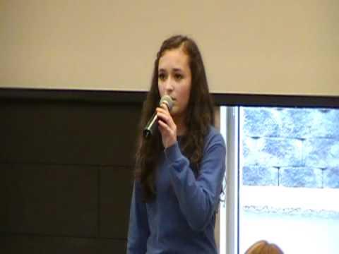 Twality Middle School Choir 2012: on my own