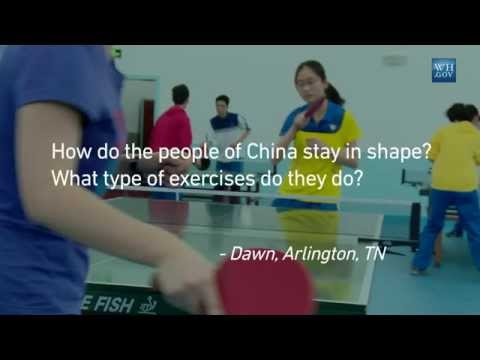 First Lady Michelle Obama Answers Your Questions From China: Exercise in China?