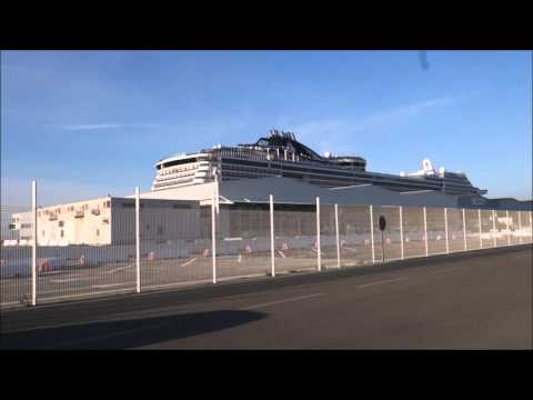 MSC Preziosa Marseilles Taking Free Port Shuttle
