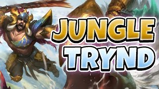 SPINS IN THE JUNGLE! JUNGLE TRYNDAMERE GAMEPLAY - League of Legends Full Gameplay