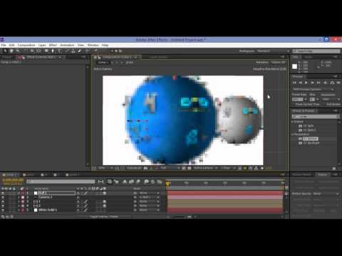 After Effect Tutorials - How to Create 3D LOGO Globe Animation-2