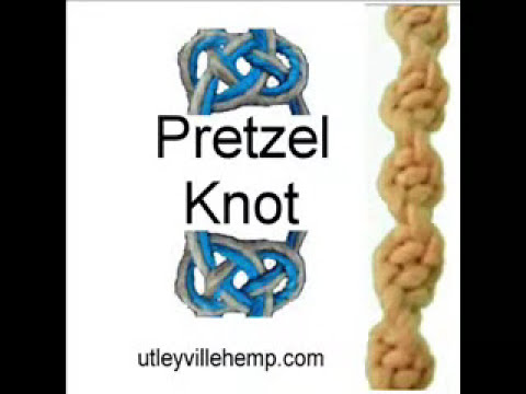 How to Tie a Pretzel Knot aka Carrick Bend for Hemp Jewelry