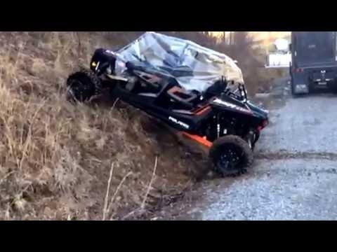 NEW 2014 RZR 4 XP 1000 Hill Climb Four Seater UTV Side by Side Polaris Razor Slings some Mud!