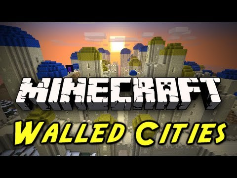 Minecraft Mod Showcase: Walled Cities Mod! (GIANT CITIES, UNDERGROUND LABYRINTHS, RUINS!)