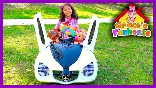 CRUISING & BABYSITTING CRY BABIES in Cool Kids Battery Powered Super Car Toys in 4K