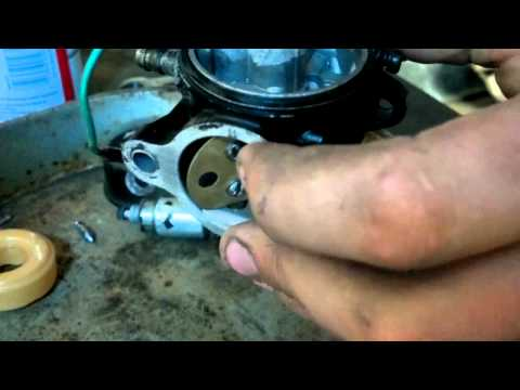 How to clean a john deere stx38 carb