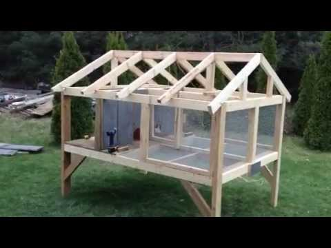 Diy how to build an outdoor rabbit hutch with plans plans free - How to make a rabbit cage ...