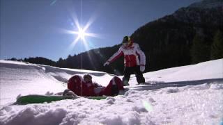 Rossi, Hayden and a Ducati MotoGP bike on snow