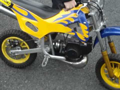 adam on yellow mini moto dirt bike may 2010 youtube. Black Bedroom Furniture Sets. Home Design Ideas