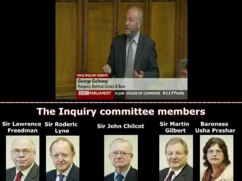 TRUTHER MP George Galloway denouncing the Iraq Inquiry