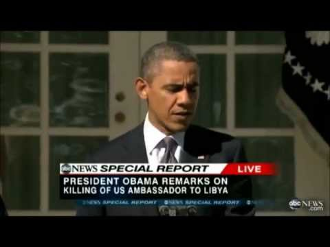 Barack Obama's Ever-changing Libya Story -  Candy Crowley Pushes the LIE