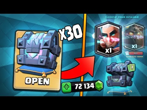 OPENING x30 LEGENDARY KINGS CHEST! NEW MAX MAGIC ARCHER HUNT! | Clash Royale BIG KINGS CHEST OPENING