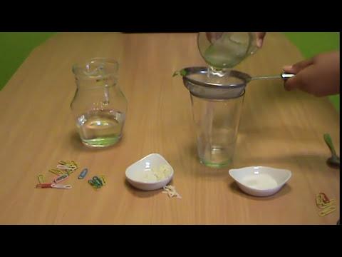Mezclas y Disoluciones, experimento de 4º Curso de educación primaria - Nuria