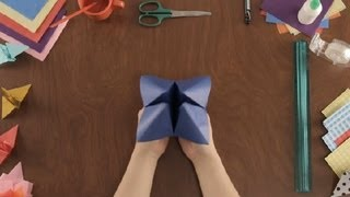 How To Make A Paper Fortune Teller : Paper Art Projects