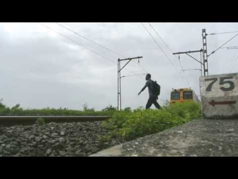 Crazy Guy Does 'kick' Movie Train Stunt (part 1) video
