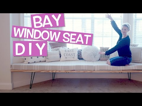 DIY How To: Bay Window Seat // House Update | Milabu