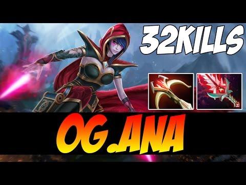 OG.ana Plays Templar Assassin WITH 32 KILLS - 8000 MMR - Dota 2
