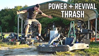 Abandoned Race Kart Revival, Hi Power Engine Swap + Thrash!