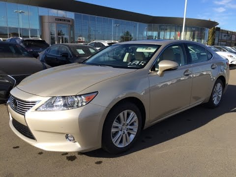 new 2015 lexus es 350 fwd review in tan cashmere on