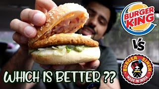 Burger King VS Burger Singh || Which is Better ??