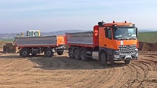 Mercedes Arocs tridem with Schwarzmuller trailer