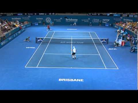 Feliciano Lopez v Lleyton Hewitt - Highlights Men's Singles Round 2: Brisbane International 2014