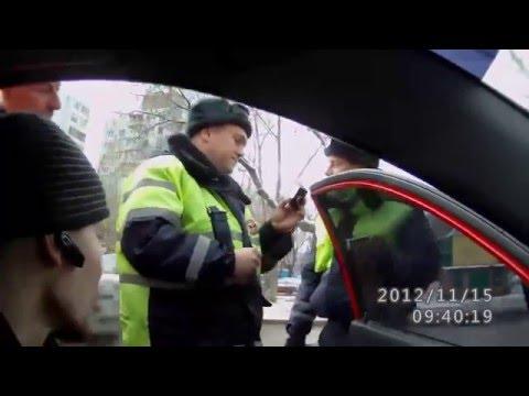 Противоправные действия инспекторов ДПС Самары 15.11.2012
