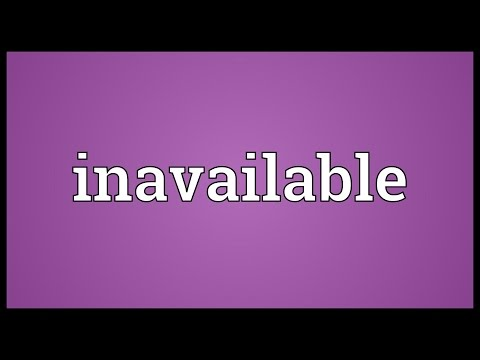 Header of Inavailable