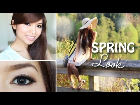 Get Ready With Me! Spring Makeup Tutorial + Outfit